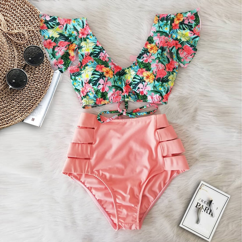 High Waisted Vintage Bikini